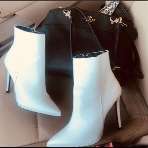 Trendy White Booties / Heels